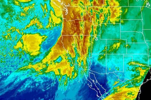 "The ""Pineapple Express"" hits California in 2014 Image: NOAA"