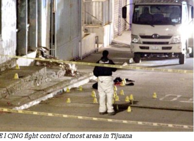 CJNG fights for control of most areas in Tijuana:
